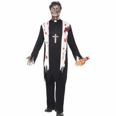 Priester carnavalpak bebloed