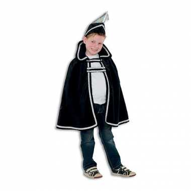 Prins carnaval kinder carnavalpak zwart