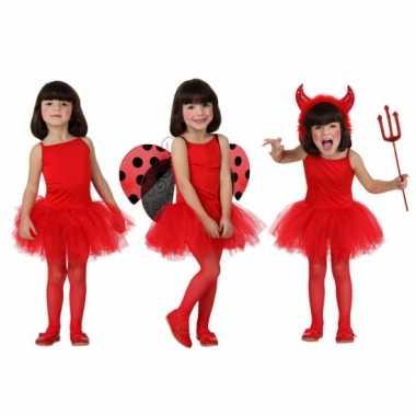 Rode ballet carnavalpak voor meisjes