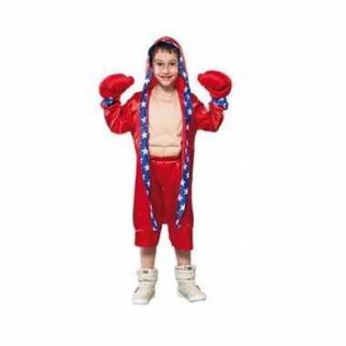 Rood bokser carnavalpak voor kinderen