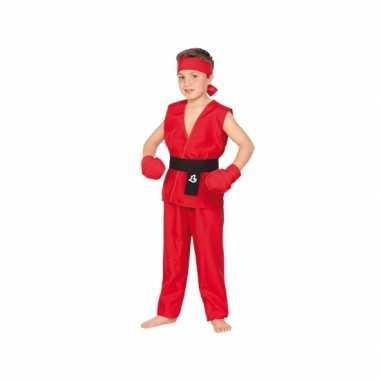 Rood Kung Fu carnavalpak voor kinderen