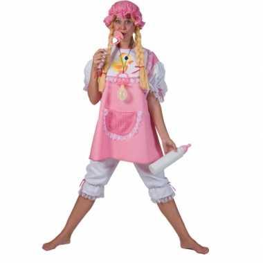 Roze baby carnavalpak voor volwassenen