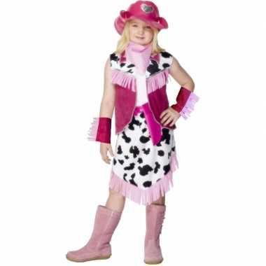Roze Cowgirl carnavalpak kind