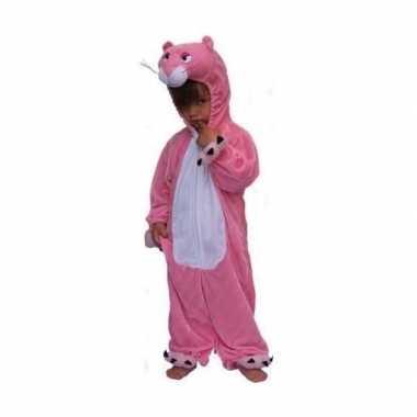 Roze panter carnavalpak kinderen