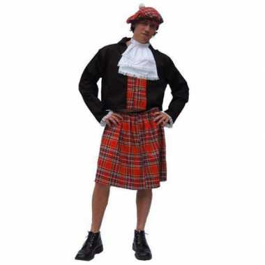 Schotse kilt carnavalpak