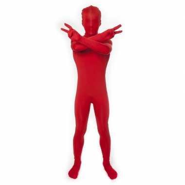 Secon skin kinder carnavalpak rood
