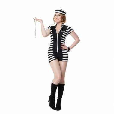Sexy boeven carnavalpak voor dames