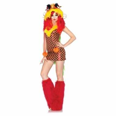 Sexy carnavalpak draken jurkje