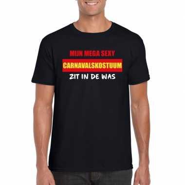 Sexy carnavalpak zit in de was heren t shirt zwart