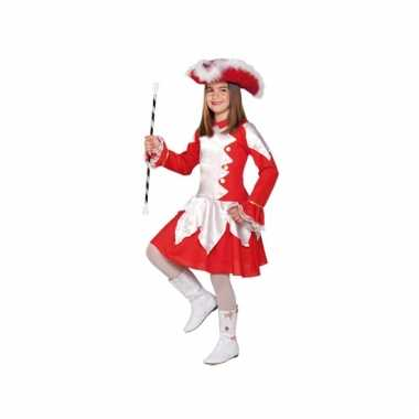 Showdans carnavalpak rood voor meiden