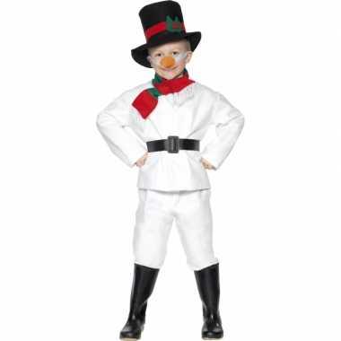 Sneeuwman kinder carnavalpak