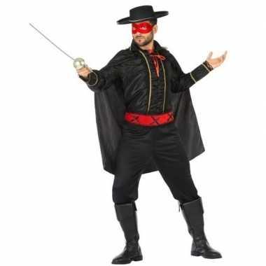 Spaanse held zwart/rood verkleed carnavalpak voor heren