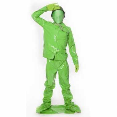Speelgoed soldaat kids carnavalpak