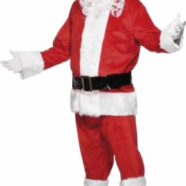 Velours kerstman carnavalpak deluxe