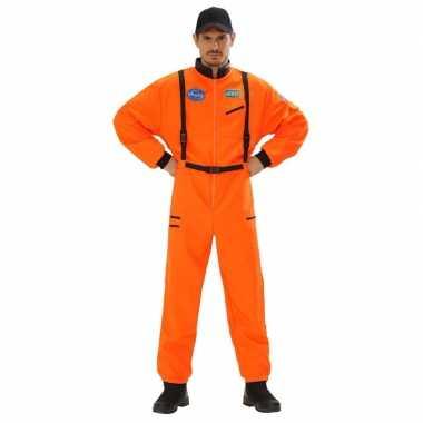 Verkleed carnavalpak astronaut carnavalpak oranje voor heren