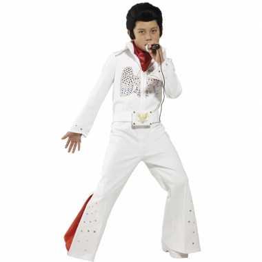 Witte Elvis carnavalpak kids