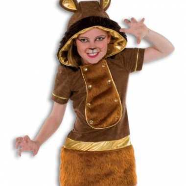 Zachte pluche leeuw carnavalpak meisjes