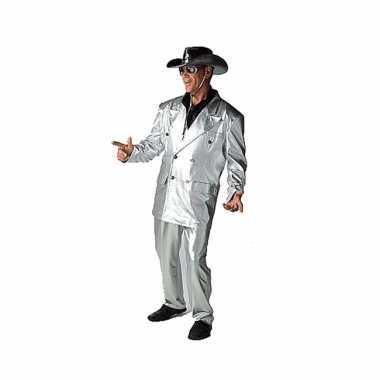 Zilveren verkleed carnavalpak