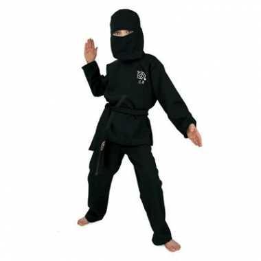 Zwart Ninja carnavalpak voor kids