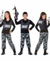Politie swat verkleed pak carnavalpak voor kinderen
